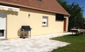 Création d'une vaste terrasse à Saint Aubin du Médoc